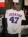 Mike Johnson's game-worn Montreal Expos jersey and glove were just two of the amazing artifacts on display at the Canadian Baseball Hall of Fame on induction day.