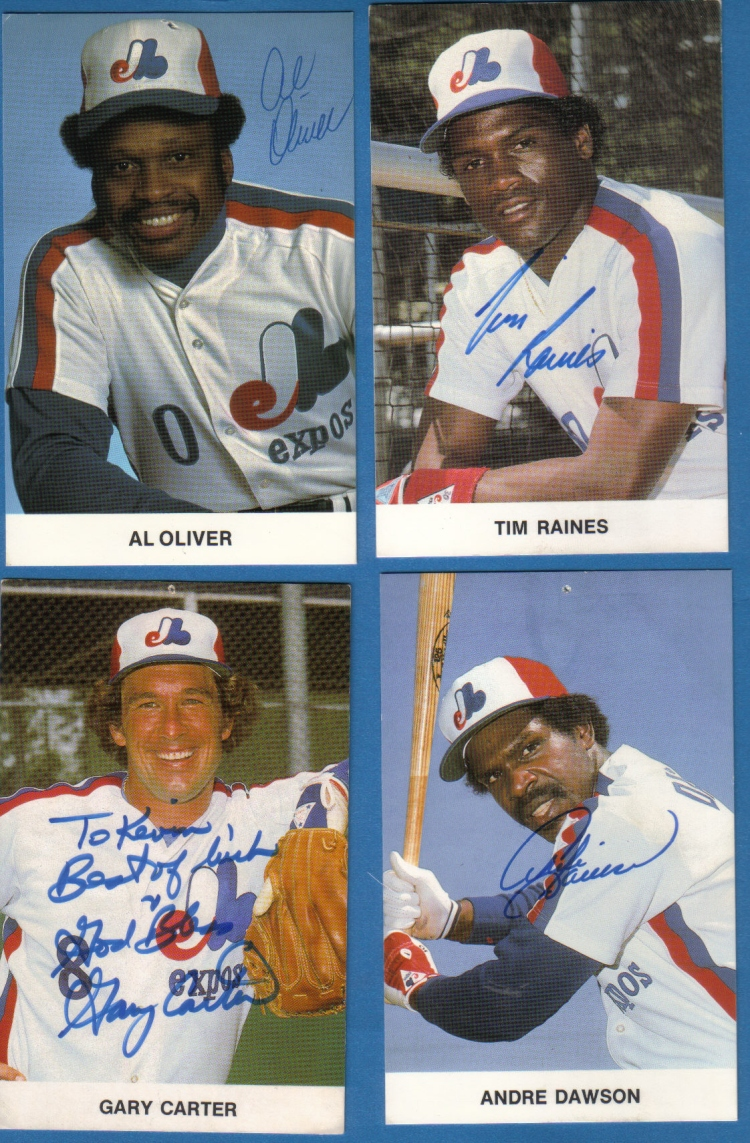Four Montreal Expos all-stars responded to our requests: Al Oliver, Tim Raines, Gary Carter and Andre Dawson.