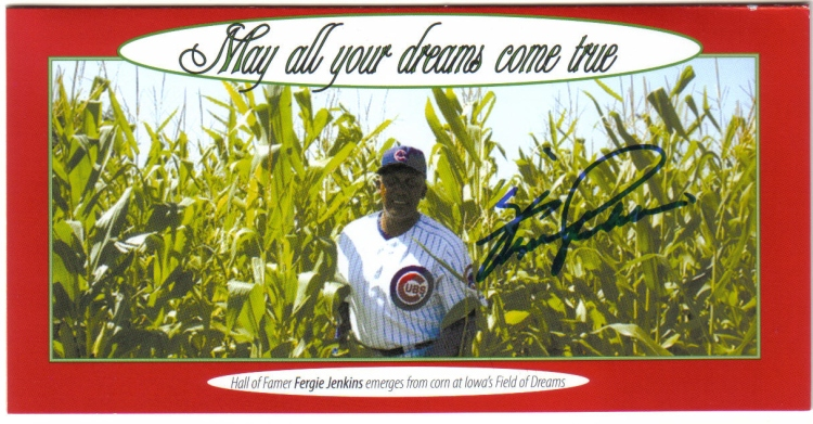 One of the first autographed Christmas cards the Canadian Baseball Hall of Fame ever mailed out. I think this was from about five years ago.