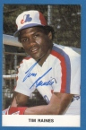 This is the Tim Raines autographed postcard that my brother, Paul, and I received when we sent a fan letter to Raines in 1984.