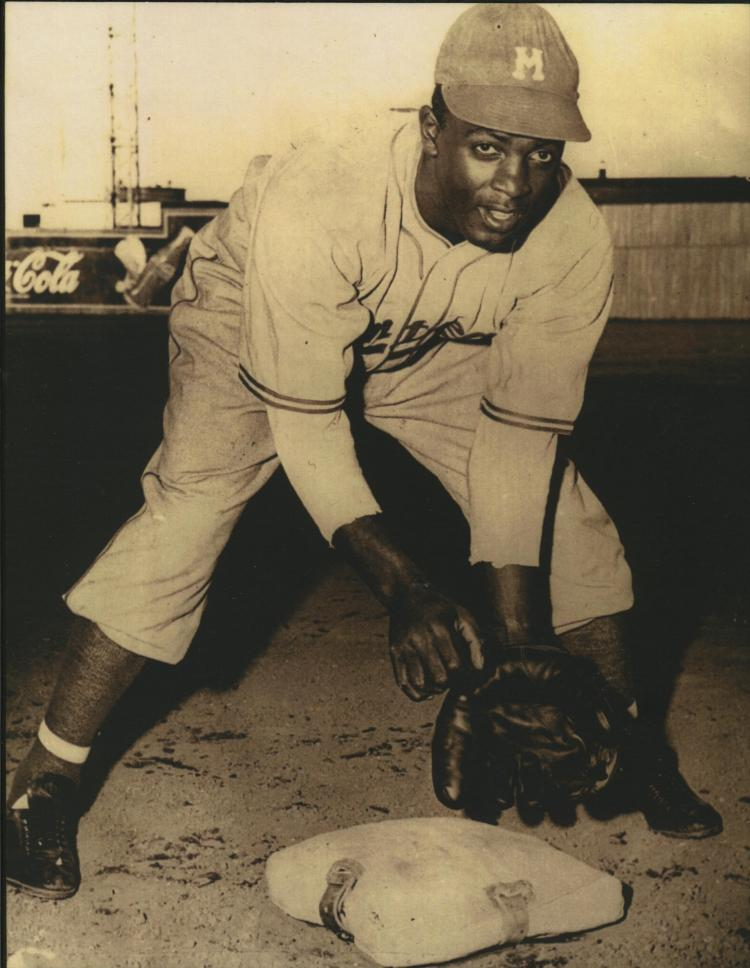 One of my favorite photos in the Canadian Baseball Hall of Fame. This photo depicts a young Jackie Robinson with the Montreal Royals in 1946. (Photo courtesy Canadian Baseball Hall of Fame).