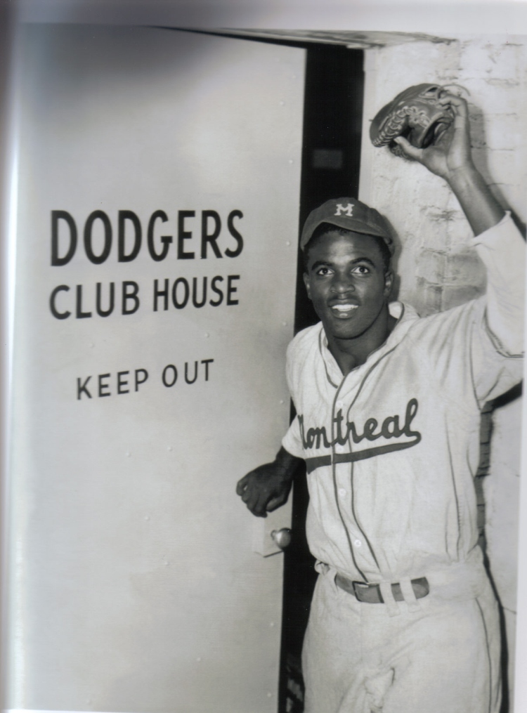 I was surprised to learn that his famous photo of Jackie Robinson was taken in 1947 rather than 1946. (Photo: Scan of print purchased from National Baseball Hall of Fame gift shop)