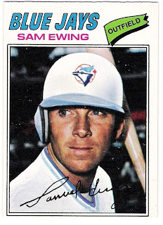Canadian Baseball Card of the Week: 1977 O-Pee-Chee Sam Ewing. This six-foot-three, Tennessee native was the hero the Toronto Blue Jays' first spring training game played on March 11, 1977.