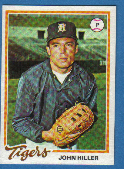 Canadian Baseball Card of the Week: 1978 Topps John Hiller. This Toronto-born southpaw established himself as a premier reliever with the Tigers from 1967 to 1970, posting a 3.00 ERA over that four-season span and contributing the club's 1968 World Championship. In January 1971, Hiller, just 27 at the time, suffered a massive heart attack. Doctors told him he'd never pitch again, but he was determined to return. His hard work paid off when he was cleared to return to the mound in June 1972. Any lingering questions about his stamina were laid to rest in 1973 when he pitched in 65 games, notched 10 wins, posted a miniscule 1.44 ERA and recorded 38 saves (a major league record at the time). In all, Hiller would toe the big league rubber for 15 seasons, registering 125 saves and a career ERA of 2.83.