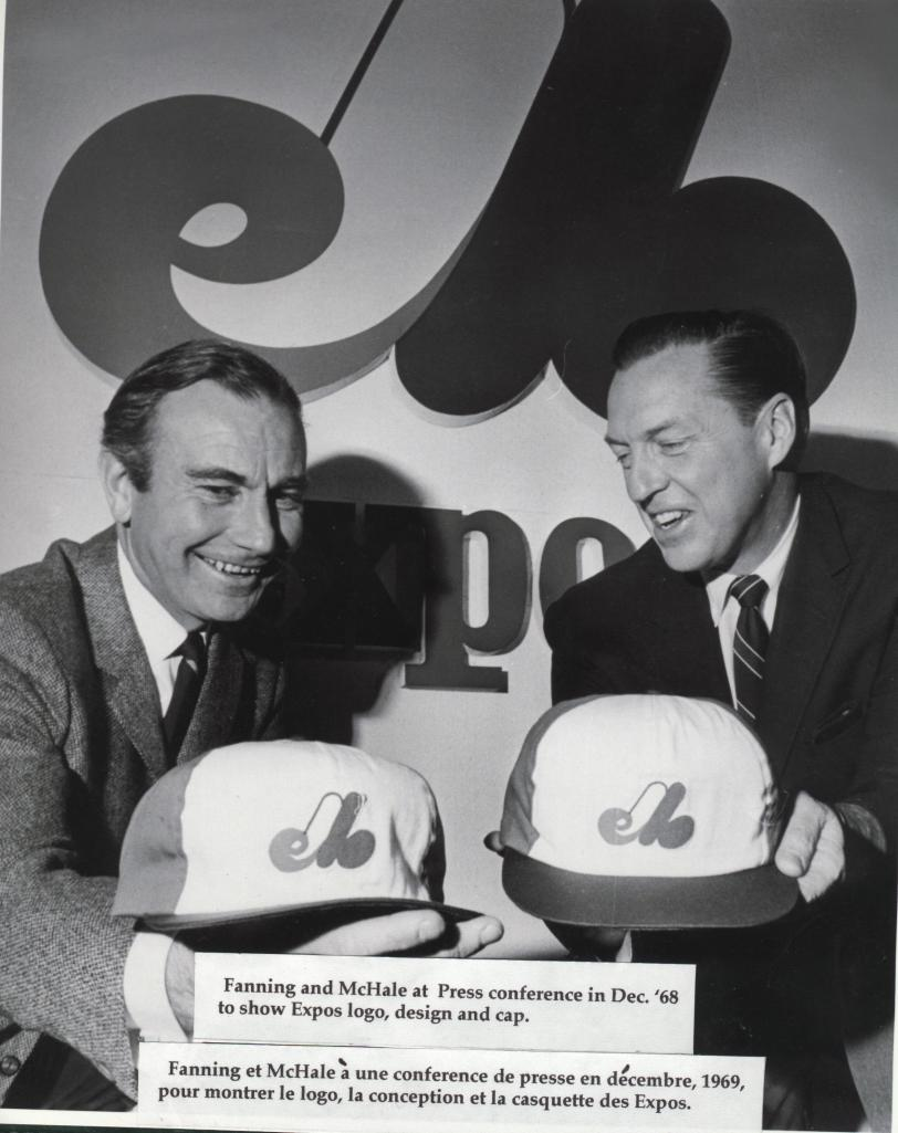 Canadian Baseball Hall of Famers Jim Fanning (left) and John McHale (right) are considered the architects of the Montreal Expos who played their first spring training game on March 6, 1969 in Fort Myers, Fla. (Photo courtesy of the Canadian Baseball Hall of Fame)