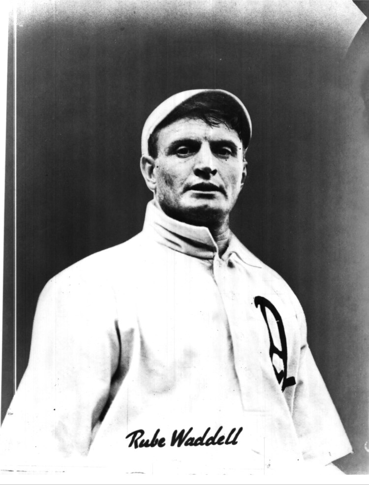 Hall of Fame hurler Rube Waddell pitched around a dozen games for a squad from Chatham in 1898. (Photo courtesy of Dan O'Brien).