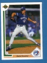 Canadian Baseball Card of the Week: 1991 Upper Deck Denis Boucher. This Montreal native spent parts of four seasons in the big leagues from 1991 to 1994 with the Blue Jays, Indians and Expos. He is one of only two players (along with Rob Ducey) to begin their career with the Blue Jays and finish it with the Expos. He is also only one of four Canadians to play for both the Blue Jays and Expos (others are Matt Stairs, Rob Ducey and Shawn Hill).