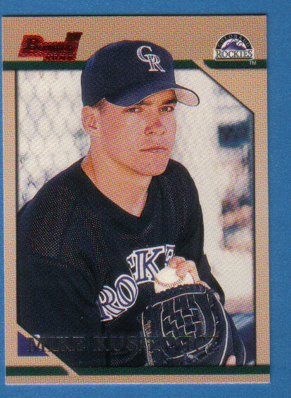Canadian Baseball Card of the Week: 1996 Bowman Mike Kusiewicz. Born in Montreal in 1976, Mike Kusiewicz was selected by the Colorado Rockies in the eighth round of the 1994 amateur draft. The Canadian southpaw and longtime member of the Canadian national team pitched in parts of 10 pro seasons in the Rockies, Blue Jays, Red Sox and Brewers organizations. He finished his professional career by pitching for four seasons with independent teams in Edmonton, Winnipeg and Ottawa. He currently resides in Ottawa and runs Mike's Baseball Camps in Nepean, Ont.