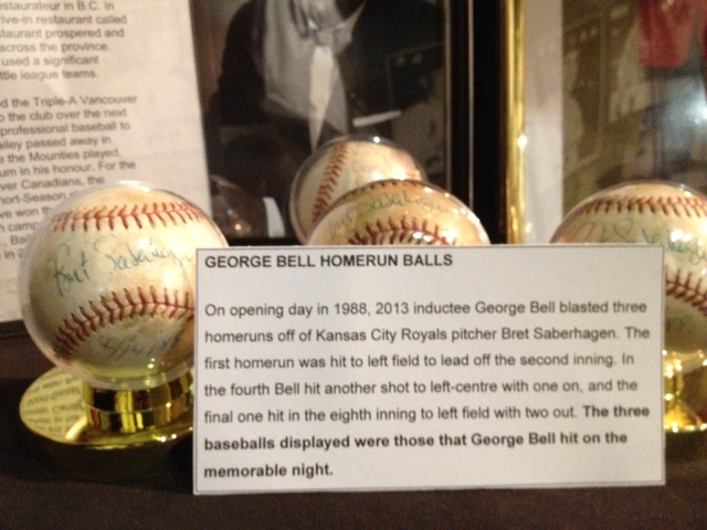 George Bell managed to retrieve the three home run balls that he belted off of Kansas City Royals starter Bret Saberhagen on Opening Day in 1988. Interestingly, he also managed to get Saberhagen to sign them.