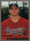Baseball Card of the Week: 2000 Topps Scott Thorman. Drafted 30th overall by the Atlanta Braves in the 2000 draft, Thorman toiled for in the Braves minor league system for six seasons before making his big league debut on April 4, 2006. He played 120 games with the Braves in 2007 and belted 11 homers. Stints in the Royals, Rangers and Tigers organization would follow. He is now playing for the Brantford Red Sox of the Intercounty League.