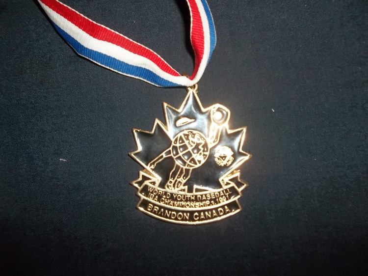 You can view Schell's gold medal and all-star ring from the 1991 World Youth Baseball Championships at the Canadian Baseball Hall of Fame in St. Marys, Ont. (Photo courtesy of Canadian Baseball Hall of Fame)
