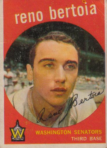 Canadian Baseball Card of the Week: 1959 Topps Reno Bertoia.