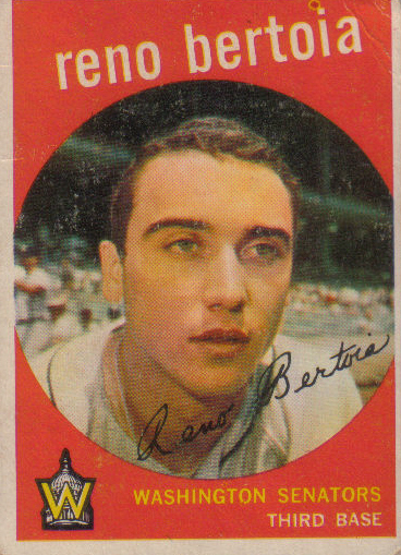Canadian Baseball Card of the Week: 1959 Topps Reno Bertoia.