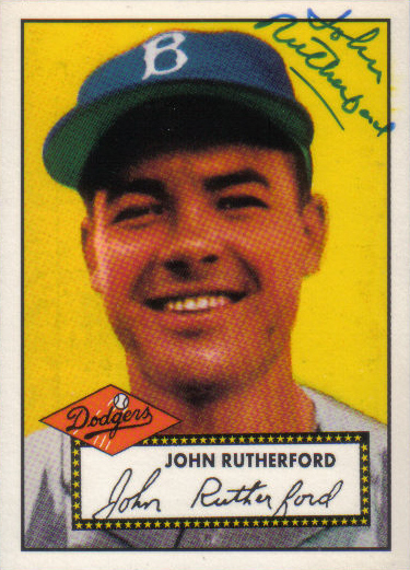 Canadian Baseball Card of the Week: 1995 Topps Archives John Rutherford. (Reprint of his 1952 Topps card)