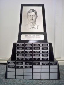 A photo of the Canadian Baseball Hall of Fame's Tip O'Neill trophy. (Courtesy of the Canadian Baseball Hall of Fame)