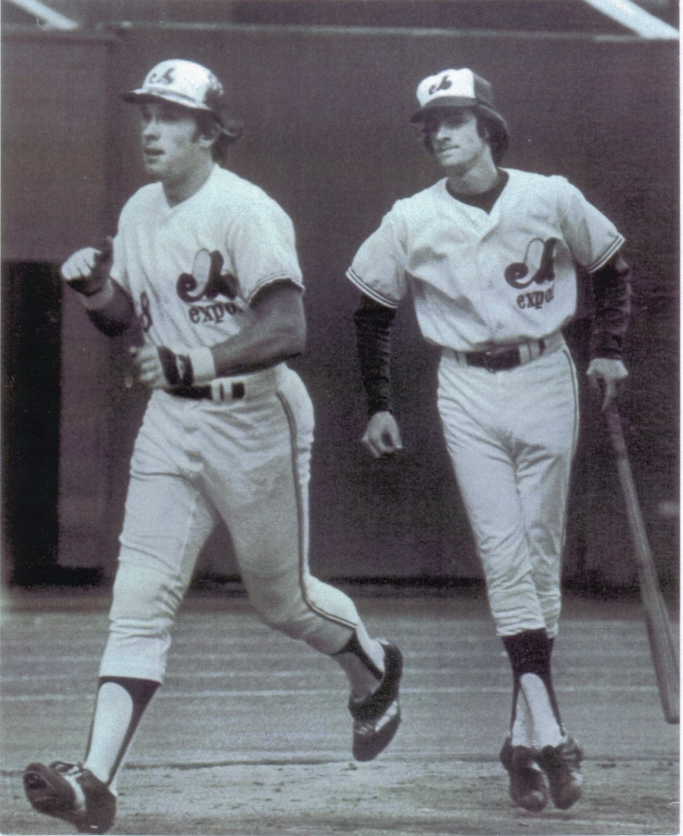 A photo of Daniel Plamondon while he serving as a bat boy with the Montreal Expos in mid-to-late '70s. Gary Carter is in the forefront of the photo. (Courtesy Daniel Plamondon)