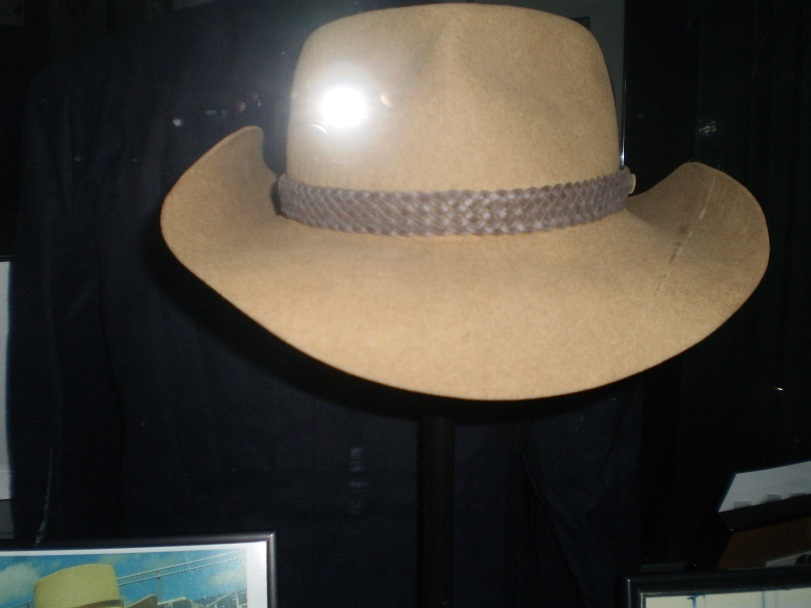 "This Australian cowboy hat is the artifact that best represents Jim Ridley. The late scouting legend could be spotted in ballpark around Canadian in trademark cowboy hat. Rob Butler once said of Ridley, ""Jim was like a dad away from home. He'd wear that Aussie cowboy hat and he'd look 6-foot-8 to us kids."""