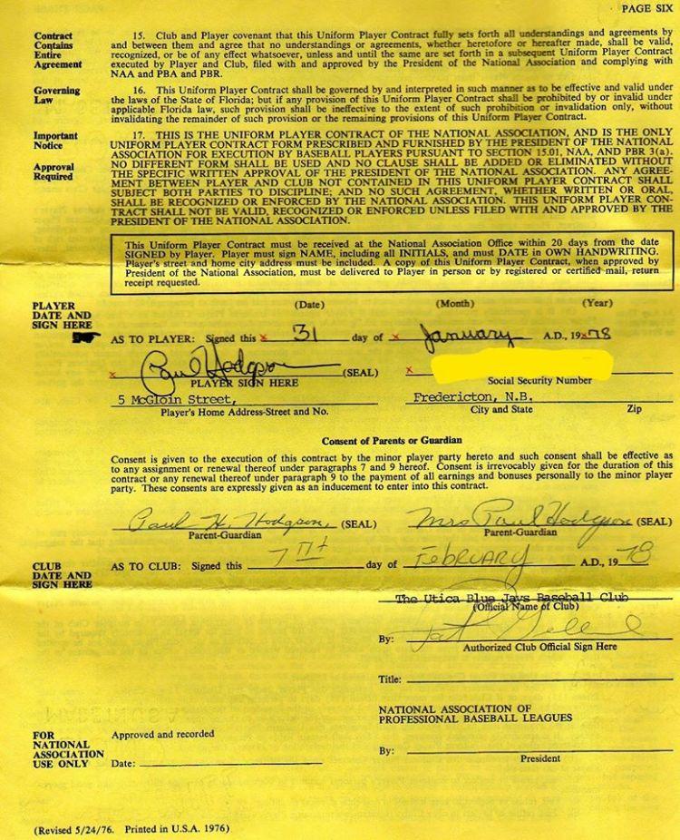 Hodgsoncontract1977 - 2